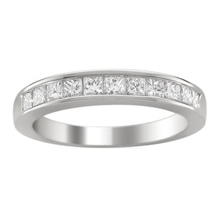 14k White Gold 1ct TDW Princess-cut Diamond Wedding Band (G-H, VS1-VS2)