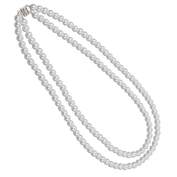 NEXTE Jewelry Double Strand Fresh Water Pearl Necklace