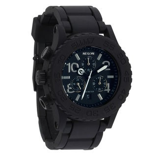 Nixon Rubber Men's '42-20 Chrono' Black Dial Watch