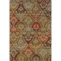 Tribal Panel Multi/ Beige Rug (1'10 x 3'3)