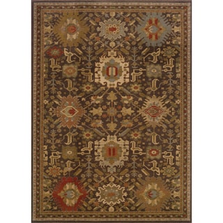 Tribal Brown/ Multi Rug (3'10 x 5'5)