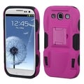 BasAcc Hot Pink/ Black Armor Stand Case for Samsung Galaxy S3/ S III