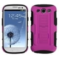 BasAcc Hot Pink/ Black Car Armor Case for Samsung Galaxy S3/ III i9300