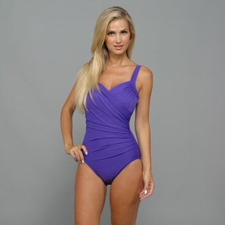 Miraclesuit Women's 'Sanibel' Iris Purple 1-Piece Swimsuit