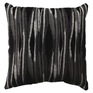 Pillow Perfect Kasuri Charcoal 16.5-inch Throw Pillow