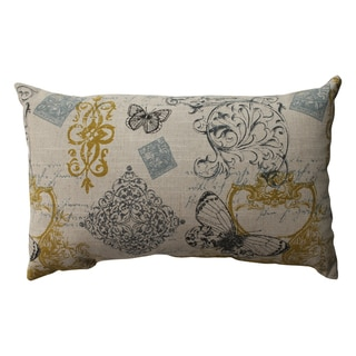 Pillow Perfect Butterfly Scroll Rectangular Throw Pillow