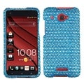 BasAcc Blue/ White Dots Diamante Case for HTC Droid DNA