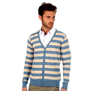 Button-Front 191 Unlimited Men's Striped Cardigan