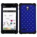 BasAcc Blue/ Black Lattice TotalDefense Case for LG P769 Optimus L9