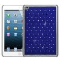 BasAcc Dark Blue Silver Lattice Case with Diamonds for Apple iPad Mini