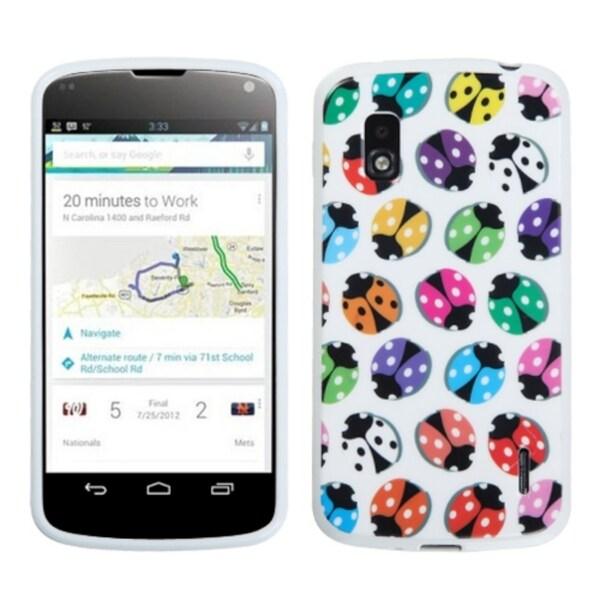 BasAcc Crawling Beetles/ White Candy Skin Case for LG E960 Nexus 4