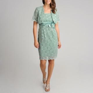 R & M Richards Women's 2-piece Sequin Lace Dress