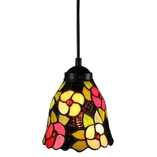 Amora Lighting Tiffany Style Floral Pendant Lamp