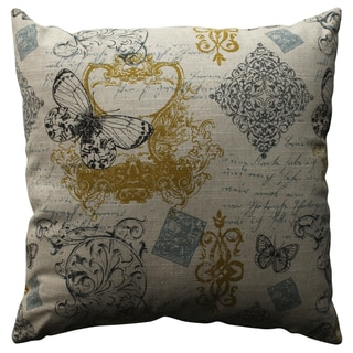 Pillow Perfect Butterfly Scroll 18-inch Throw Pillow