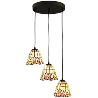 Amora Lighting Tiffany Style Triple Pendant Lamp