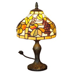 Amora Lighting Tiffany Style Grapes Table Lamp