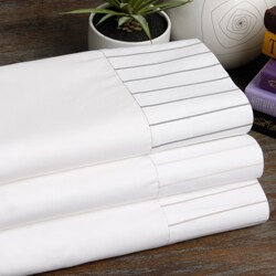 Marc Thee Henry Hill Collection 560 TC Pinpoint Oxford Cotton Deep Pocket Sheet Set