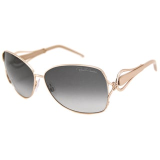 Roberto Cavalli Women's RC595S Iperico Gold-and-Gray Rectangular Sunglasses