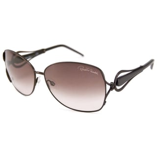 Roberto Cavalli Women's RC595S Iperico Rectangular Sunglasses in Brown/Brown Gradient