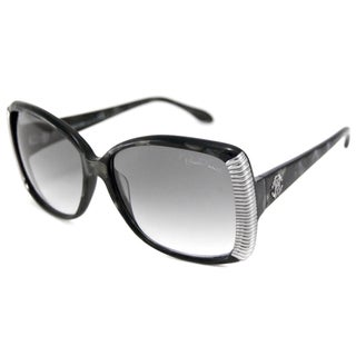 Roberto Cavalli Women's RC656S Alloro Black Rectangular Sunglasses