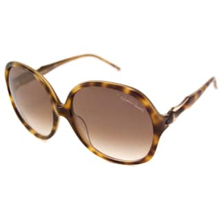 Roberto Cavalli Women's RC657S Bougainvillea Havana/Brown Rectangular Sunglasses