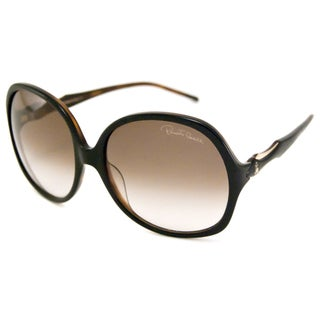 Roberto Cavalli Women's RC657S Bougainvillea Brown/Brown Rectangular Sunglasses