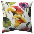 Pillow Perfect Brookwater Floral 18-inch Throw Pillow