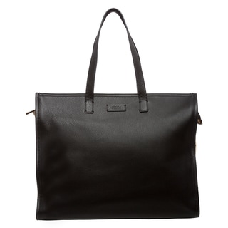 Fendi Leather and Suede Perforated Shopper Bag