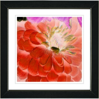 Studio Works Modern 'Orange Dahlia' Framed Art Print