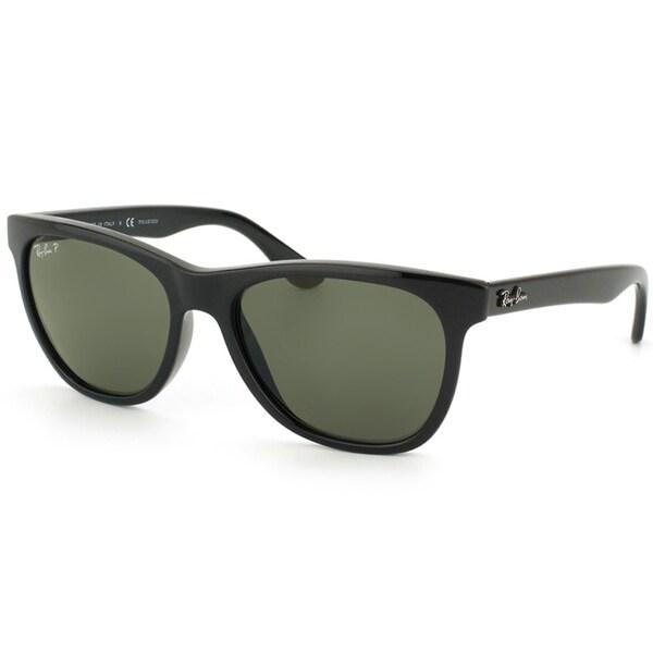 Ray-Ban Unisex Shiny Black Square Polarized Sunglasses
