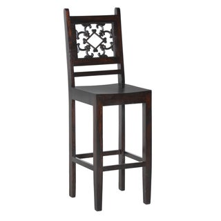 'Venice' Dark Mahogany 30-inch Bar Stool
