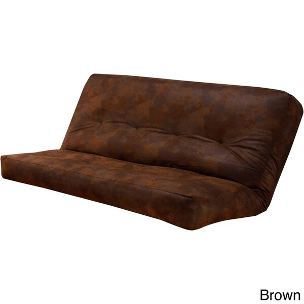 somette palomino faux leather size futon cover overstock shopping great deals on