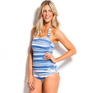 Kingdom & State Women's Striped 1-piece Swimsuit
