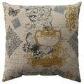 Pillow Perfect Butterfly Scroll 16.5-inch Throw Pillow