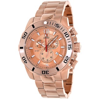 Swiss Precimax Men's 'Crew Pro SP13258' Rose Goldtone Stainless Steel Swiss Chronograph Watch