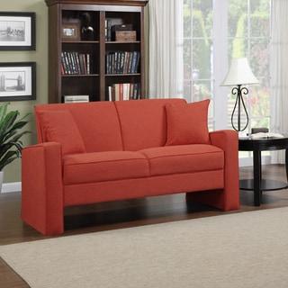 Portfolio Aviva Sunset Red Linen Sofa