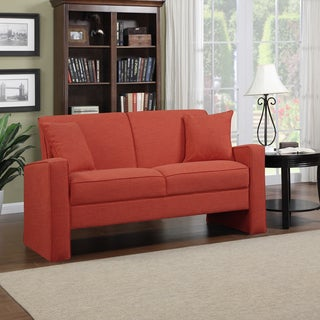 Portfolio Aviva Sunset Red Linen Sofa