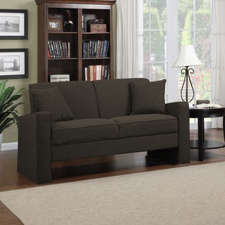 Portfolio Aviva Charcoal Gray Linen Sofa