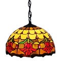 Amora Lighting Tiffany Style Tulips Hanging Lamp
