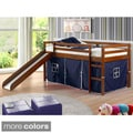 Twin Size Tent Loft Bed with Slide and Slat Kit