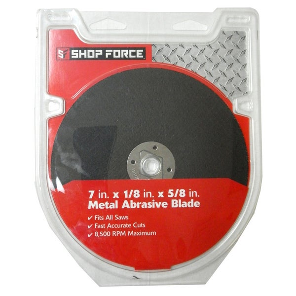 Shop Force 7-inch Metal Abrasive Blade