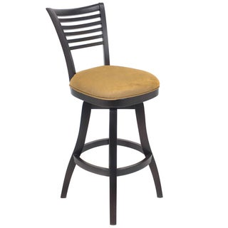 Transitional Chestnut/ Espresso Wood Swivel Barstool