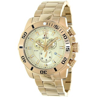 Swiss Precimax Men's 'Crew Pro SP13256' Goldtone Stainless Steel Swiss Chronograph Watch