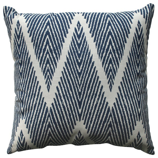 Pillow Perfect Bali Navy 18-inch Throw Pillow