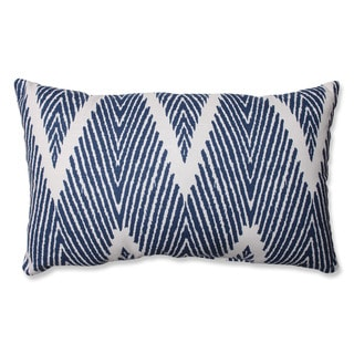 Pillow Perfect Bali Navy Rectangular Throw Pillow