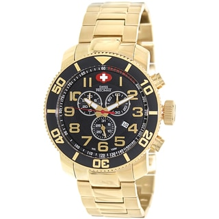 Swiss Precimax Men's Verto Pro Gold Stainless-Steel Band Swiss Chronograph Watch