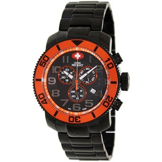Swiss Precimax Men's Verto Pro Black Stainless-Steel Band Swiss Chronograph Watch with Arabic Numerals