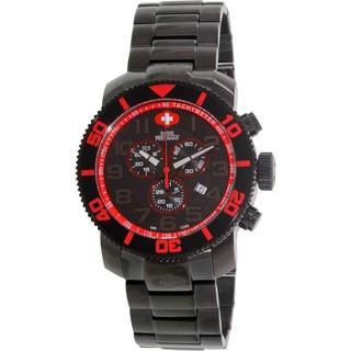Swiss Precimax Men's Verto Pro Black Stainless-Steel Band Swiss Chronograph Watch