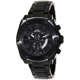 Swiss Precimax Men's Admiral Pro Black Stainless-Steel Band Swiss Chronograph Watch