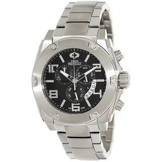Swiss Precimax Men's Admiral Pro Silver Water-Resistant Stainless-Steel Band Swiss Chronograph Watch